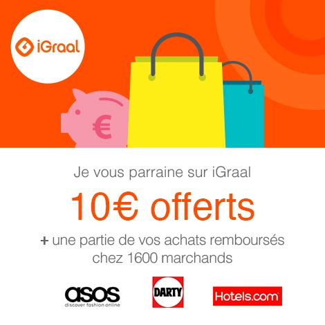 EXCLU : 10 € de bonus d'inscription Igraal par Sitescashback