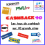 Le CASHBACK 40 : les taux de cashback sur 40 grands sites internet