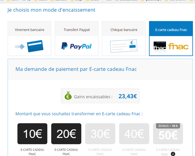 Votre Cashback En Carte Cadeau Fnac Ou Zalando Sitescashback