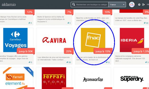 Comment recommander un site sur Aklamio (exemple de la fnac)