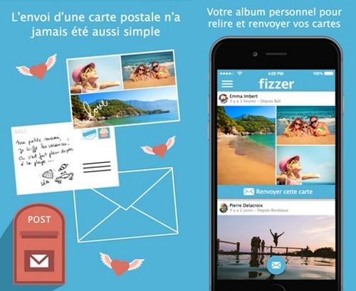 Des cartes postales personnalisées avec vos photos de vacances: mon avis sur l'appli Fizzer
