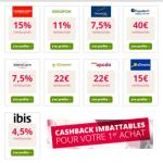 Les cashbackissimes ebuyclub : des taux canons pour votre premier cashback