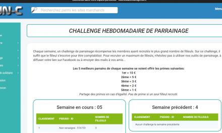 Un nouveau challenge parrainage sur le site de cashback FUN-C