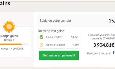 Déjà près de 4000 € de gains sur Igraal !