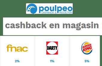Poulpeo ajoute le cashback en boutiques