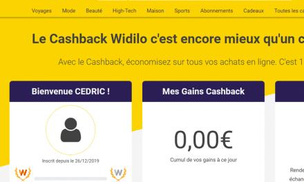 Widlio : mon avis sur ce nouveau site de cashback